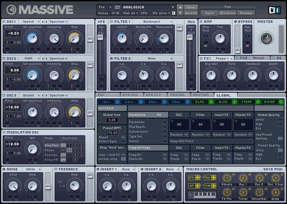 Massive от Native Instrumentsl - плагин для FL Studio